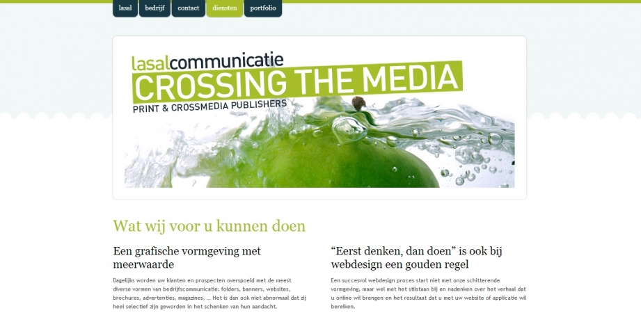 Copywriting website Lasal Communicatie